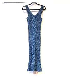 Stretchy blue knit like dress